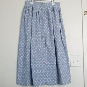 BRIGGS light blue denim midi skirt